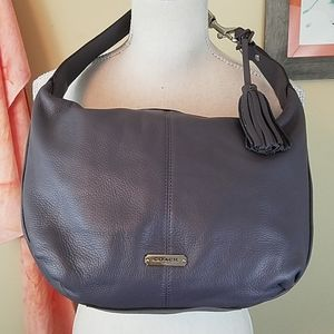 Coach Avery Small Hobo Bag Grey/Lavender Leather